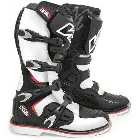 Pánské moto boty W2 E-MX9 černo-bílé - 43