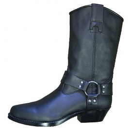 Kožené moto boty TechStar koně vysoké, černé