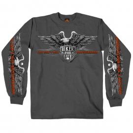 Pánské tričko Hot Leathers Brotherhood Eagle, dlouhý rukáv