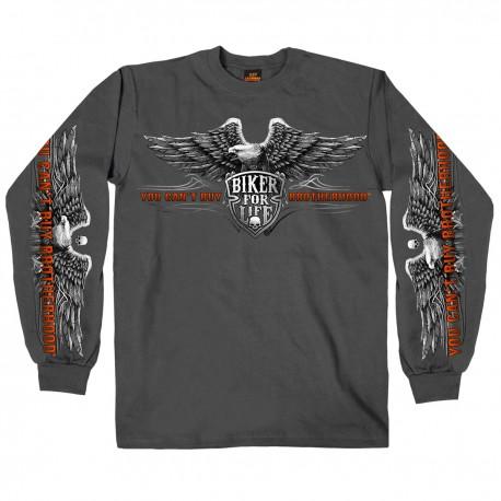 Pánské tričko Hot Leathers Brotherhood Eagle, dlouhý rukáv - L