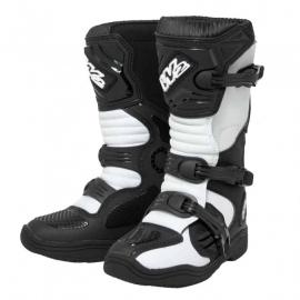 Dětské moto boty MX Black, White