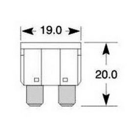 Pojistka 10A, nožová 19x20mm, 1 ks