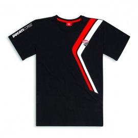 Pánské tričko Ducati DC Stripe černé