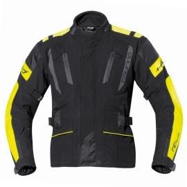 Pánská moto bunda Held 4-TOURING Reissa černá/fluo žlutá