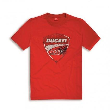 Pánské tričko Ducati Corse Sketch červené