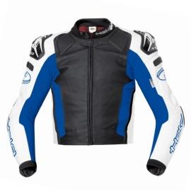 Pánská motocyklová sportovní bunda Held SAFER černá/modrá, kůže