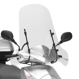 102A Plexi GIVI na skútr čiré pro motocykly YAMAHA, PIAGGIO, KYMCO, HONDA