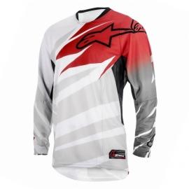 Pánský motocrossový dres Alpinestars TECHSTAR bílá/červená/šedá