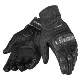 Dámské sportovní moto rukavice Dainese CARBON COVER S-ST LADY černé, kůže (pár)