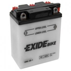 Baterie EXIDE 6N6-3B-1, 6V 6Ah, za sucha nabitá. Náplň součástí balení.