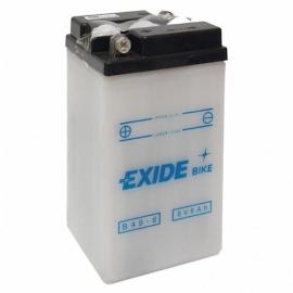 Baterie EXIDE B49-6, 6V 10Ah, za sucha nabitá. Náplň součástí balení.