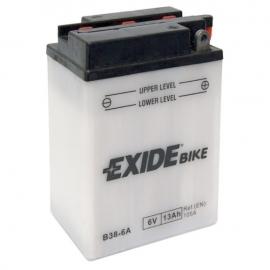 Baterie EXIDE B38-6A, 6V 13Ah, za sucha nabitá. Náplň součástí balení.