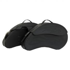 Kožené moto brašny TechStar Dynaflow hladké, černé