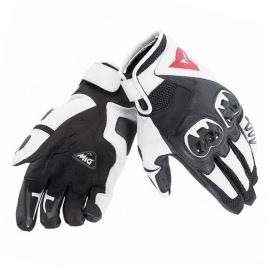 Kožené moto rukavice Dainese MIG C2 UNISEX černá/bílá/černá