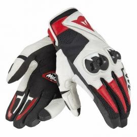 Kožené moto rukavice Dainese MIG C2 UNISEX černá/bílá/červená