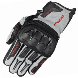 Enduro rukavice Held SAMBIA na motorku šedá/černá, textil/klokaní kůže (pár)