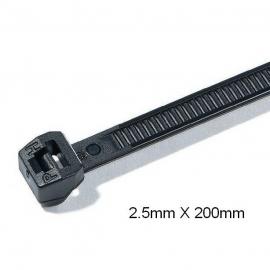 Stahovací páska 2,5x200mm, 100ks