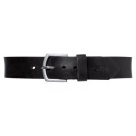 Kožený pásek Held s kovovou přezkou, černý