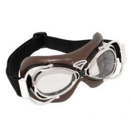Brýle DAKOTA, hnědé s chromovanými obroučkami