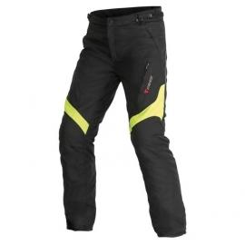 Dámské moto kalhoty Dainese TEMPEST D-DRY LADY černá/fluo žlutá