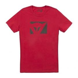 Pánské triko s krátkým rukávem Dainese COLOR NEW červená/černá