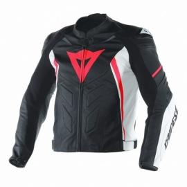 9abb0d92a36 Pánská moto bunda Dainese AVRO D1 černá bílá fluo červená