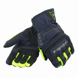 Dámské rukavice na motorku/skútr Dainese CLUTCH EVO LADY D-DRY černá/fluo žlutá, textilní (pár)