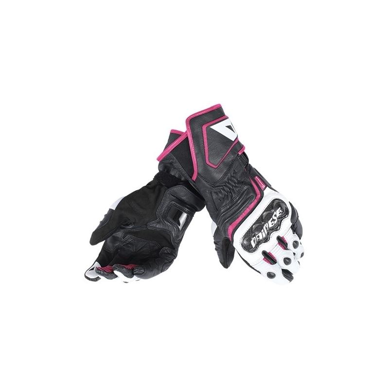 97942d56bb0 Dámské sport moto rukavice Dainese CARBON D1 LONG LADY černá bílá růžová