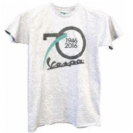 Pánské triko VESPA 70° CELEBRATIVA šedé