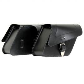 Kožené moto brašny TechStar Sharp hladké, černé