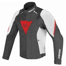 Pánská moto bunda Dainese LAGUNA SECA D1 D-DRY černá/bílá/červená, textilní
