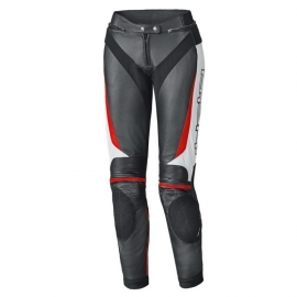 Dámské kožené kalhoty na motorku Held LANE 2 černá/bílá/červená
