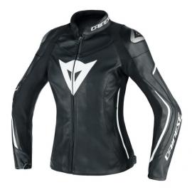 Dainese dámská kožená sportovní moto bunda ASSEN LADY černá/bílá