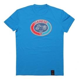 Pánské triko s krátkým rukávem Dainese MOTO 72 modrá