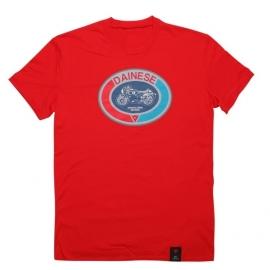 Pánské triko s krátkým rukávem Dainese MOTO 72 červená