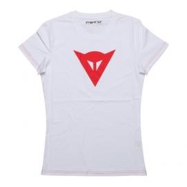 Dámské triko s krátkým rukávem Dainese SPEED DEMON LADY bílá/červená