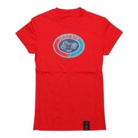 Dámské triko s krátkým rukávem Dainese MOTO 72 LADY červená