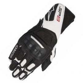 Moto rukavice Alpinestars SP-8 V2 černá/bílá, kůže