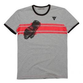 Pánské triko s krátkým rukávem Dainese GLOVE antracitová