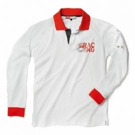 pánské triko Polo APRILIA Racing s dlouhým rukávem, bílo-červené