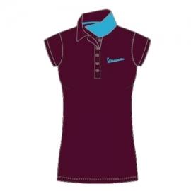 Dámské triko Polo VESPA LOGO červené (bordó)