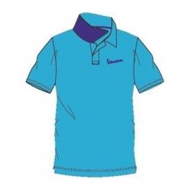 Pánské triko Polo VESPA LOGO modré