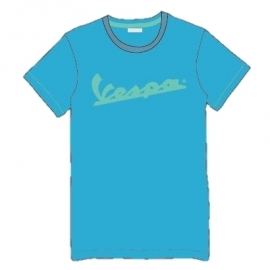 Pánské triko VESPA LOGO modré