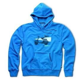 Pánská mikina s kapucí VESPA modrá