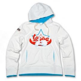 Dámská mikina s kapucí VESPA STAR bílá