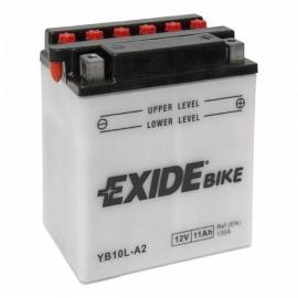 Baterie EXIDE EB10L-A2, 12V 11Ah, za sucha nabitá s antisulfační úpravou. Náplň součástí balení.