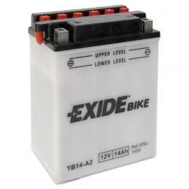 Baterie EXIDE EB14-A2, 12V 14Ah, za sucha nabitá s antisulfační úpravou. Náplň součástí balení.