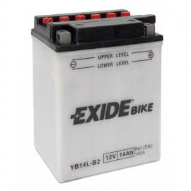 Baterie EXIDE EB14L-B2, 12V 14Ah, za sucha nabitá s antisulfační úpravou. Náplň součástí balení.
