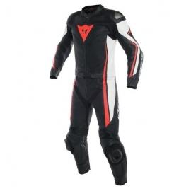Dainese ASSEN div. černá/bílá/fluo-červená - dvoudílná kombinéza na motorku