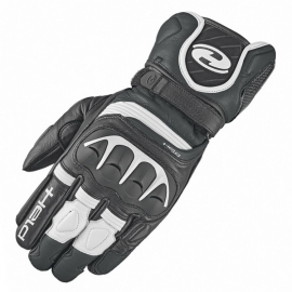 Sport moto rukavice Held REVEL 2 černá/bílá, kozí kůže